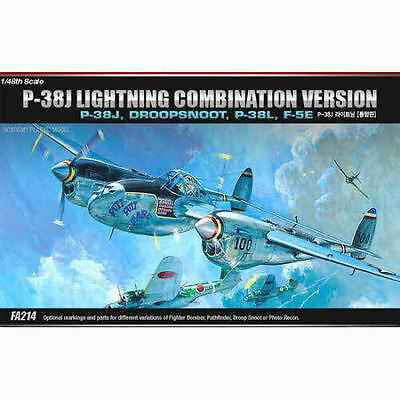 [Academy] Plastic Model Kit 1/48 P-38J Lightning Combination Version  (#12282)