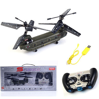 New Syma S026G 3CH Remote Control Mini Chinook RC Helicopter with GYRO RTF