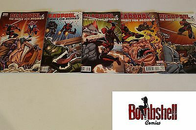 Deadpool and the Mercs for Money 1-5 Complete Lim Variant Set Comic Lot