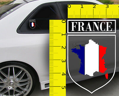 ~~French France Flag Shield VINYL Decal Sticker ~~