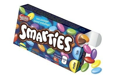 Nestle Smarties Candy coated chocolates Canadian Canada FRESH 45g
