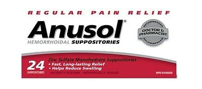 Anusol Hemorrhoidal Suppositories 24 Suppositories