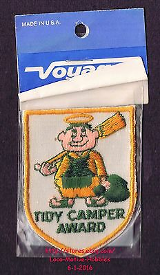 LMH PATCH Badge TIDY CAMPER AWARD Camping RV Motor Home Camp Cartoon Voyager NEW