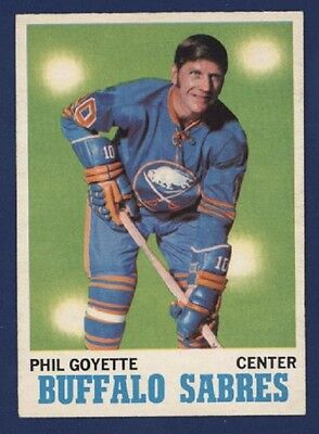 1970-71 O-Pee-Chee #127 PHIL GOYETTE Nrmt+ to Nmmt+ BUFFALO SABRES!!