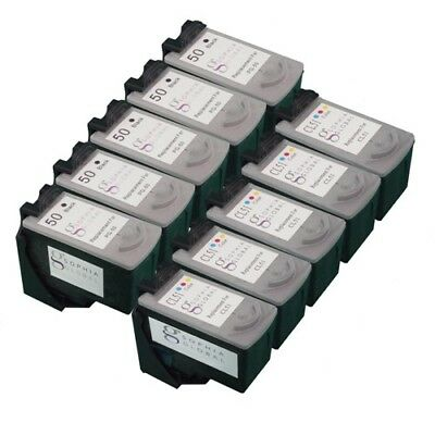 10 PK Ink Cartridges for Canon PG-50 CL-51 FAX-JX210P PIXUS MP170 MP460 iP2500