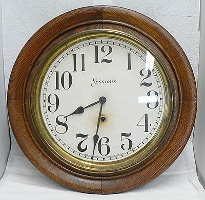 """Old Sessions """" Foyer"""" One Day Wind Up Clock With Pendulum And Key"""