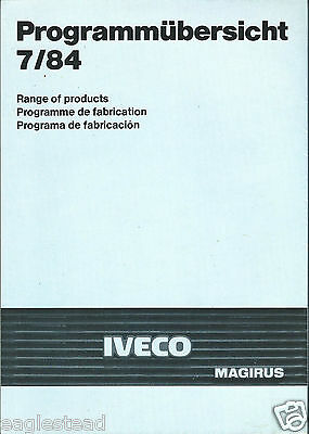 Fire Truck Brochure - Iveco Magrius - Product Line Overview - 1984 7/84 (DB183)