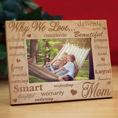 Personalized Why We Love Mom Picture Frame Mothers Day Engraved
