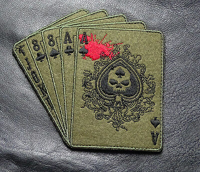 Dead Man's Hand Aces Skull Oda Forest Tactical Combat Morale Army Hook Patch