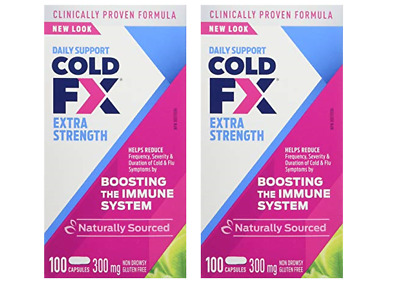 Cold-FX Extra Strength (100x2) = 200 Capsules 300mg Non Drowsy Natural Anti-Body