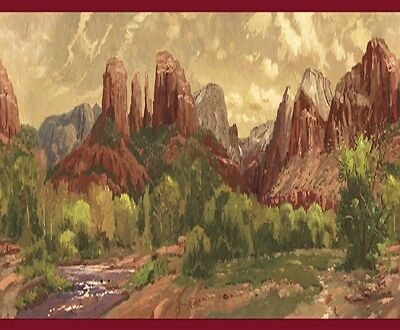 Thomas Kinkade Southwestern Desert Wallpaper Border TK074101B