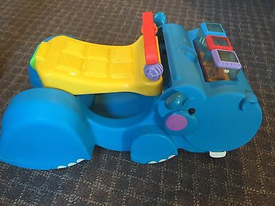 Fisher Price Gobble & Go Hippo Peek a Blocks Walker Ride On With 3 Blocks GUC