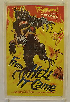 From Hell it came original release US Onesheet movie poster