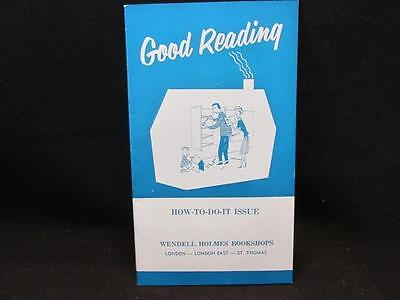 Good Reading September 1955 How-To-Do-It Issue Wendell Homes Bookstore London