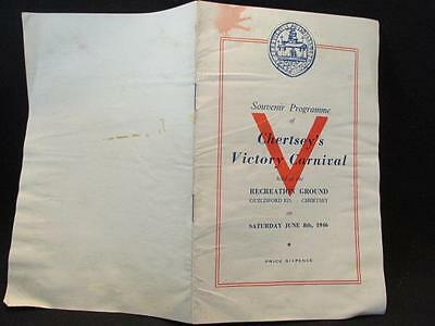 Chertsey's Victory Carnival June 1946 Post WWII Souvenir Programme