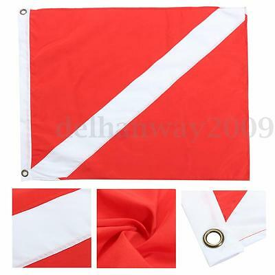 72x60cm Large Diver Down Boat Flag Polyester Scuba Diving Banner Bunting Sign