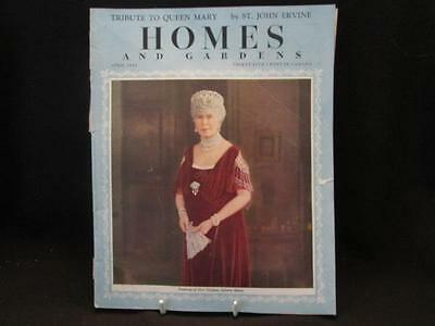Tribute to Queen Mary by St John Ervine April 1951 Homes & Gardens Magazine