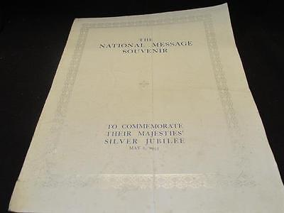 National Message Souvenir Silver Jubilee May 1935 King Edward VII With Messages