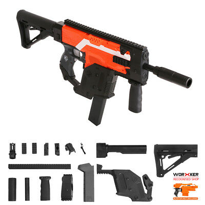 Worker MOD Kriss Vector Imitation Kit Combo 13 Items for Nerf STRYFE Modify Toy