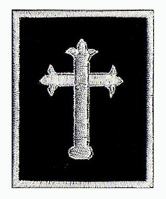 Embroidered badge patch Cross Musketeer fusible patch medieval chevallier