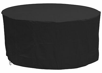Oxbridge Black Large Round Waterproof Outdoor Garden Patio Set Furniture Cover