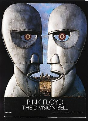 ORIGINAL VINTAGE Pink Floyd Division Bell Unused Counter Stand Up Display 1994