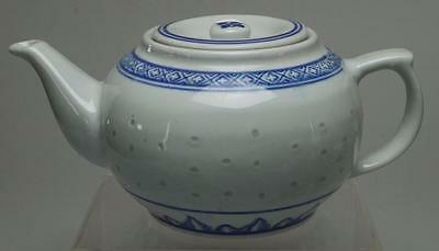 4 Cup Blue & White Teapot Made in China VA56