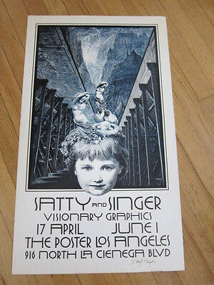 Wilfred Satty & David Singer Los Angeles Exhibition Poster AUTOGRAPHED