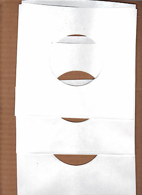 45rpm Paper Sleeves:  LOT of  THIRTY SOLID WHITE record sleeves