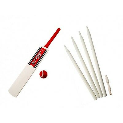 Backyard Cricket Bat Ball & Wickets Set - Children's Kids Size 3