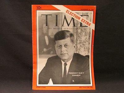 President-Elect Kennedy Time November 16 1960 Election Extra Vol LXXVI #20A