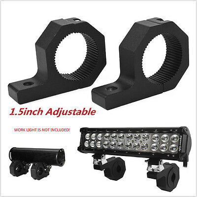2×1.5'' LED Mount Braket LED Light Clamps For Roof Roll Cage Car For SUV Offroad