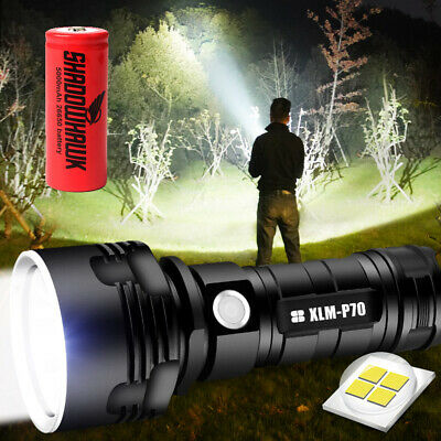 2pc 20000 High lumens Shadowhawk X800 LED Tactical Flashlight Rechargeable Torch