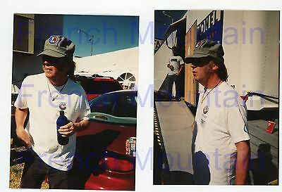 "Lot of 2 Neil Young Lionel 3.5x5"" Color Candid Snapshot Photo 3081"