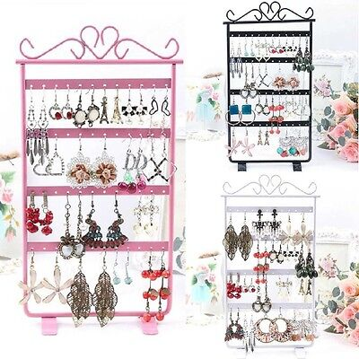 Earrings Jewelry Display Rack Metal Stand Holder Storage Showcase New 48 Holes