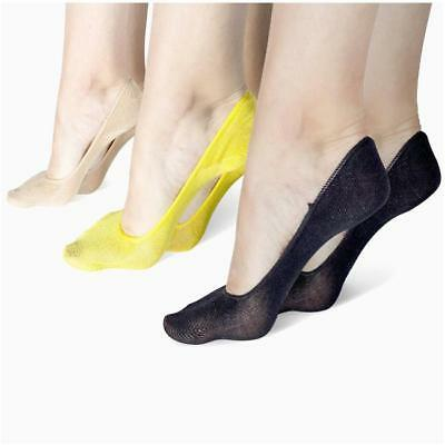 5 Pairs Women Bamboo Fiber Invisible Nonslip Loafer Low Cut No Show Boat Socks G