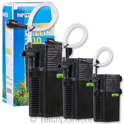 Happet Aquarium Innenfilter Delfin Serie, Nano Mini Filter Garnelen Becken