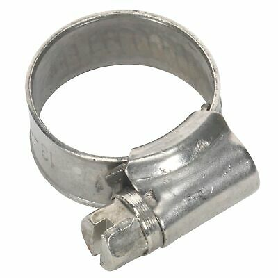 Sealey Race / Rally Pack Of 10 Stainless Steel Hose Clips - 13-19mm