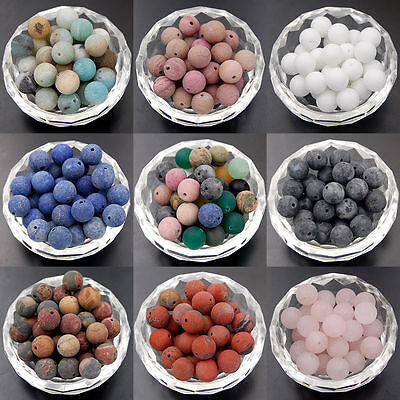 Wholsale Natural Smooth Gemstone Round Loose Beads 4-12mm Assorted Stones Gem