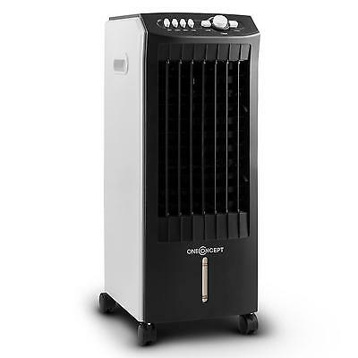 Mobile Air Cooler Fan Cooling Machine Remote Timer 3 Power Ice Pack Black 65 W