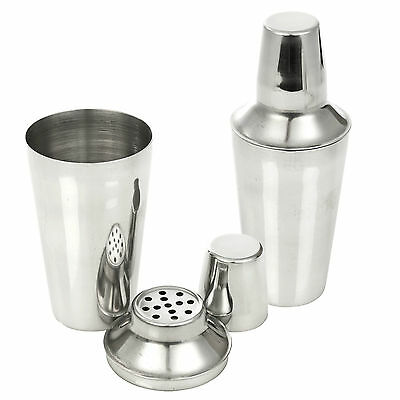 Stainless Steel Cocktail Shaker Mixer Drink Pub Alcohol Party Martini Bar Mojito