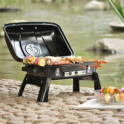 BBQ Barbecue Picnic Backyard Grill Enamel Folding BBQ Tabletop Grill New V6Y2