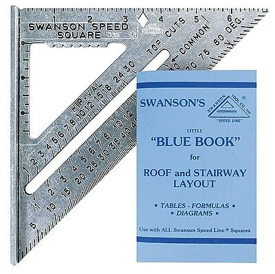 "Swanson Tool S0101 7-inch Speed Square 7"" (inches)"