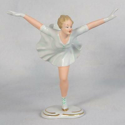 Wallendorf 1764 Porcelain Figurine - Delicate Woman Figure Ice Skater (1384/1)