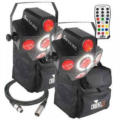 Chauvet DJ Circus 2.0 IRC LED Lighting Effect & Strobe + Bags Leads & Controller