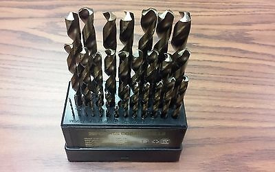 "29 Pieces/set Cobalt HSS jobber length Drill Set, fractional 1/16"" -1/2""- New"