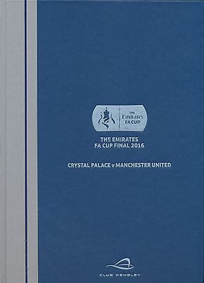FA CUP FINAL 2016 Manchester United v Crystal Palace VIP HARDBACK issue
