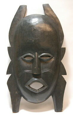Vintage Hand Carved Wood African Mandinka Tribal Mask Art Work