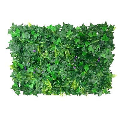 40*60cm Artificial Plastic Green Grass Lawn Creepers Leaf Grass with Blossom