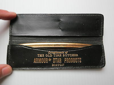 Vintage Armour Star Butcher Boston Advertising Comb and Leather Case